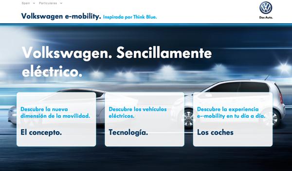 Volkswagen lanza una web dedicada a la movilidad eléctrica
