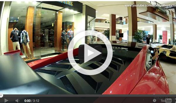 Vídeo: cinco Lamborghini se cuelan en un centro comercial