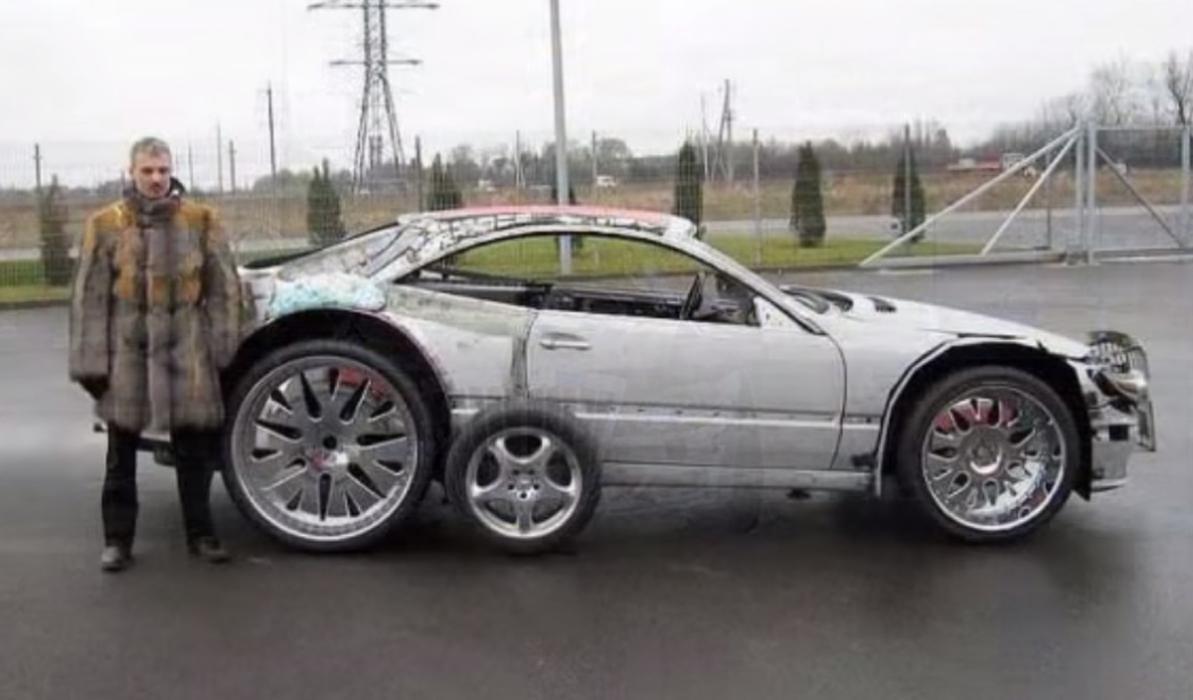 Mercedes CL modificado espuma expansiva lateral