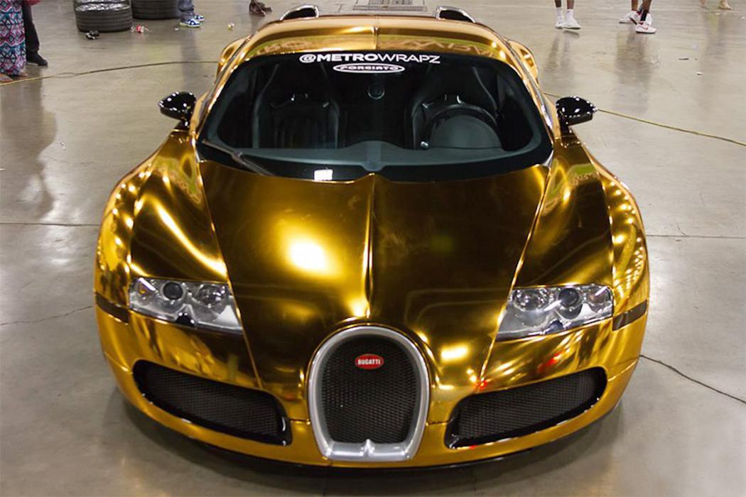 Bugatti Veyron bañado en oro