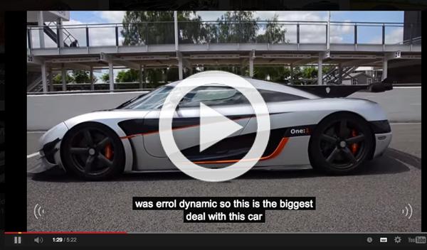 Koenigsegg Agera One, el coche de proporciones perfectas