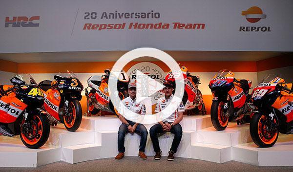 Márquez y Pedrosa analizan las Honda campeonas del mundo