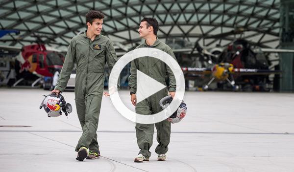 Márquez y Pedrosa en un caza, más 'faster' que nunca