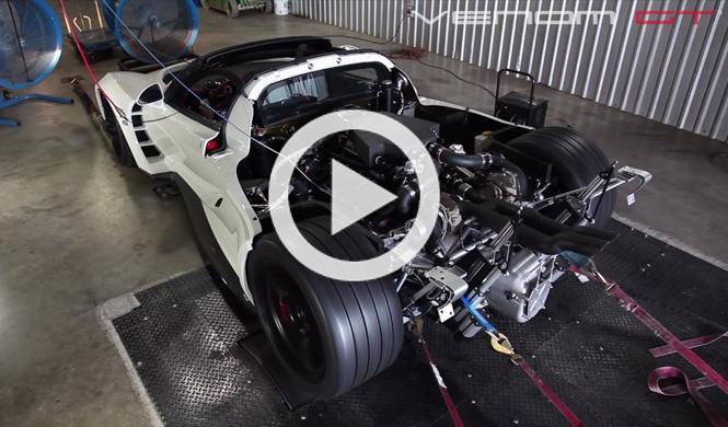 El coche más rápido del mundo contra un banco de potencia