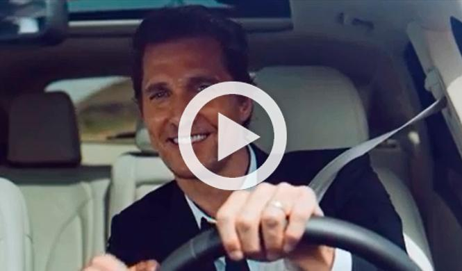 Matthew McConaughey es la nueva imagen de Lincoln