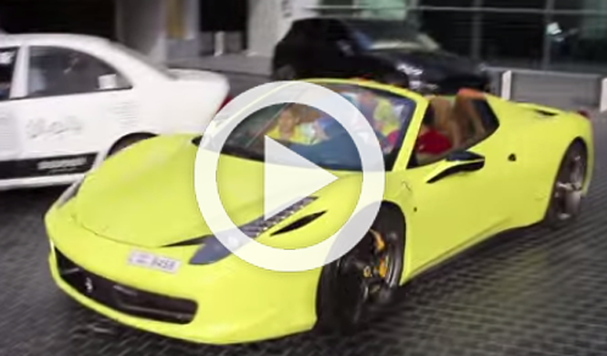Un Ferrari 458 Italia Spider para cinco personas
