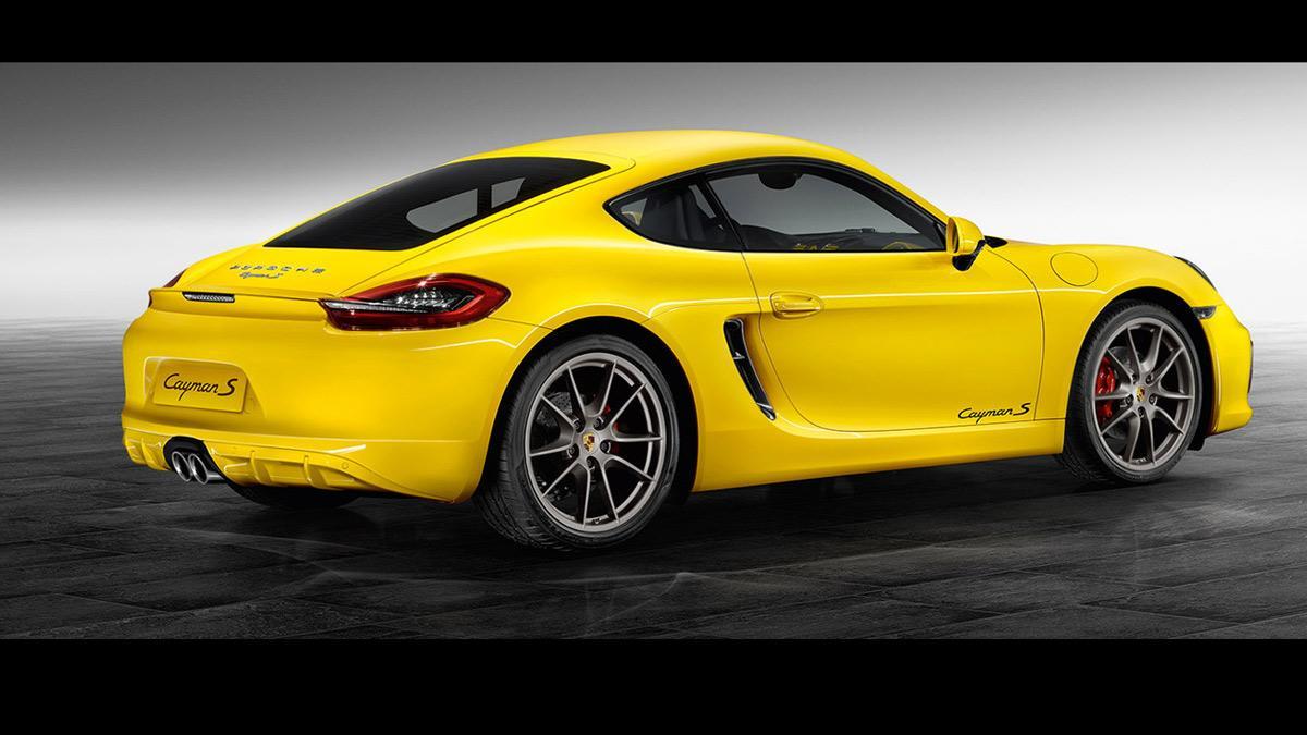 Porsche Cayman S Yellow Racing