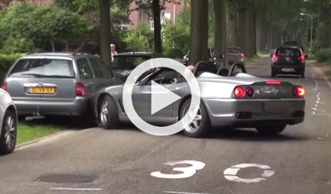 Capta en directo el accidente de un Ferrari 550 Barchetta