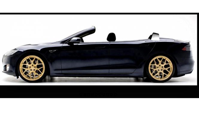 Transforman un Tesla Model S en un descapotable de cuatro