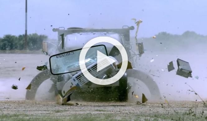 Crean una barrera para destruir camiones con explosivos
