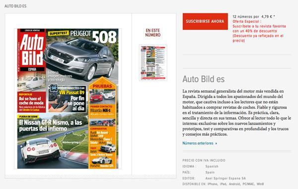 12 números de AUTO BILD por 4,75 euros hasta el 20 octubre