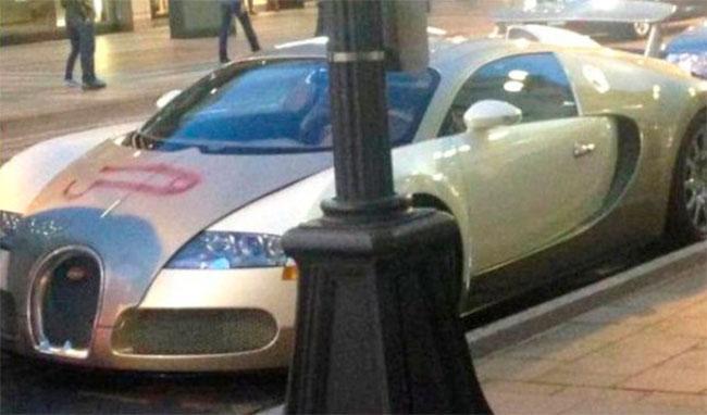 Pintan un pene en un Bugatti Veyron 16.4 Grand Sport