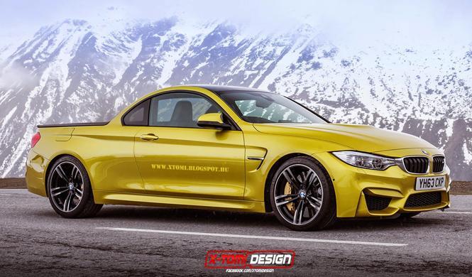Un BMW M4 con carrocería pick up