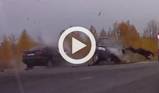 Vídeo: este conductor sale despedido de un SUV y sobrevive