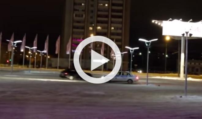 Estos conductores le toman el pelo a la Policía rusa