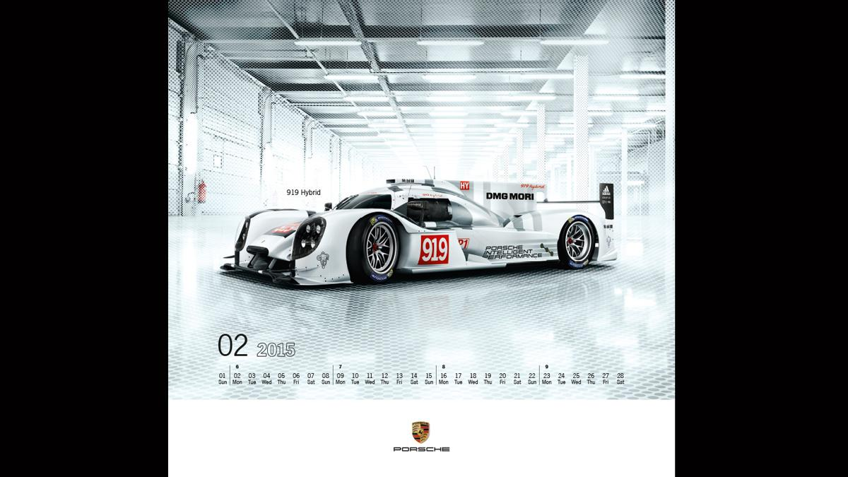 Calendario Porsche 2015 febrero