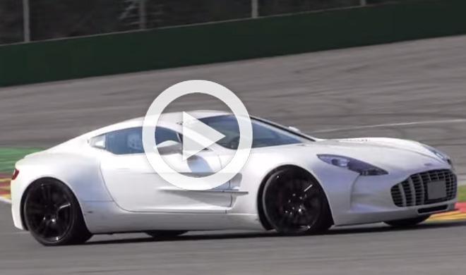Video: cinco Aston Martin One-77 a toda velocidad por Spa