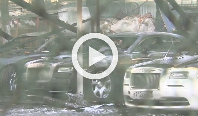 Un incendio destruye 12 coches de gama alta del mismo dueño