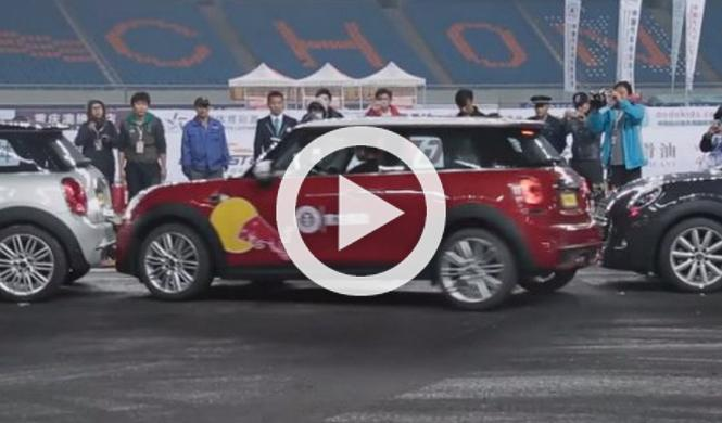 Chino logra Guinness de aparcamiento con freno de mano