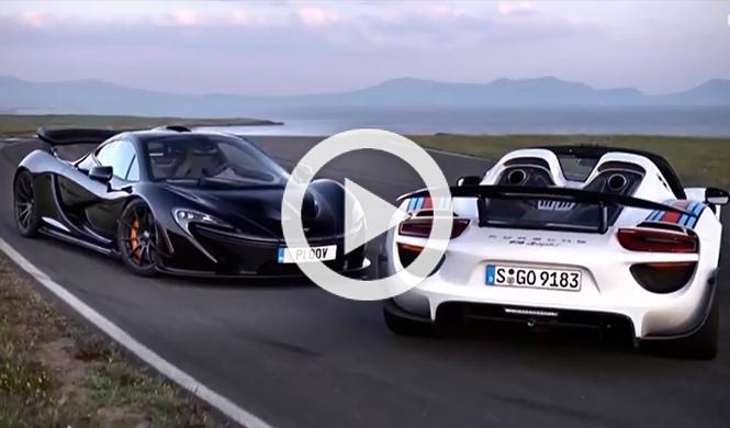 Vídeo: McLaren P1 contra Porsche 918 Spyder
