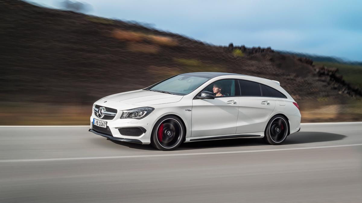 Mercedes CLA 45 AMG Shooting Brake 3/4 delantera