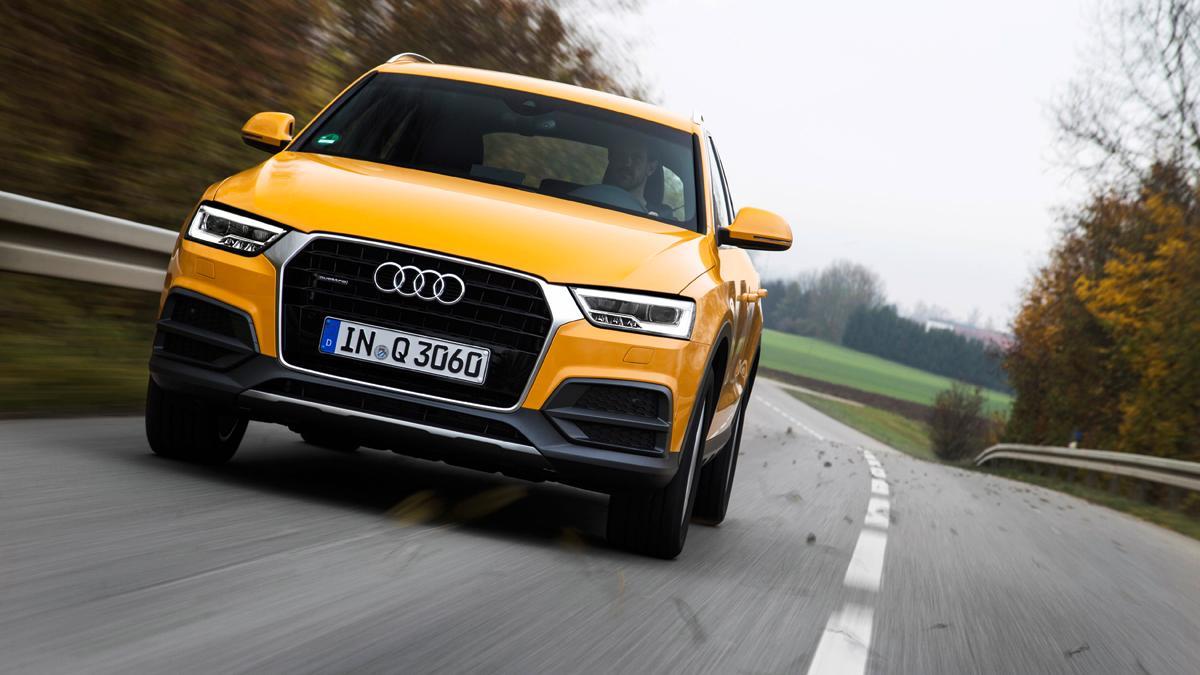 Nuevo Audi Q3 frontal movimiento