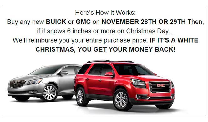 Curiosa iniciativa: vendedor de Chicago regala Buick y GMC