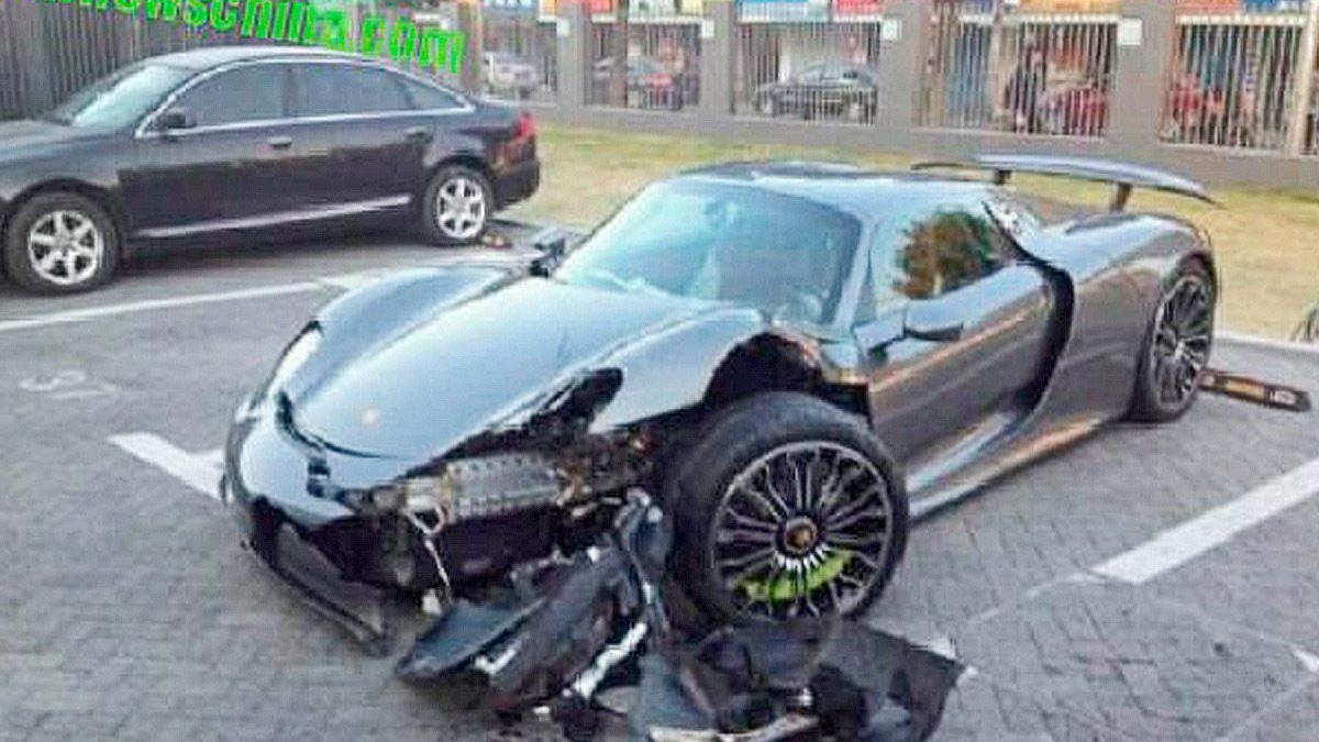 Accidente Porsche 918 Spyder