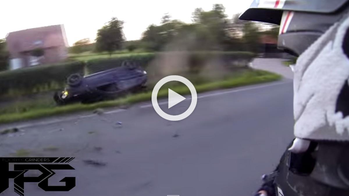 Vídeo: increíblemente, sobreviven a este accidente