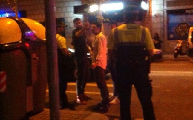 Discusión pique policia barcelona