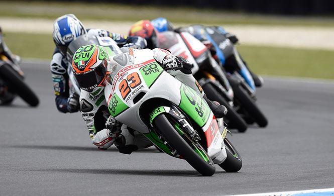 Libres Moto3 GP Malasia 2014: Antonelli, por rebufo