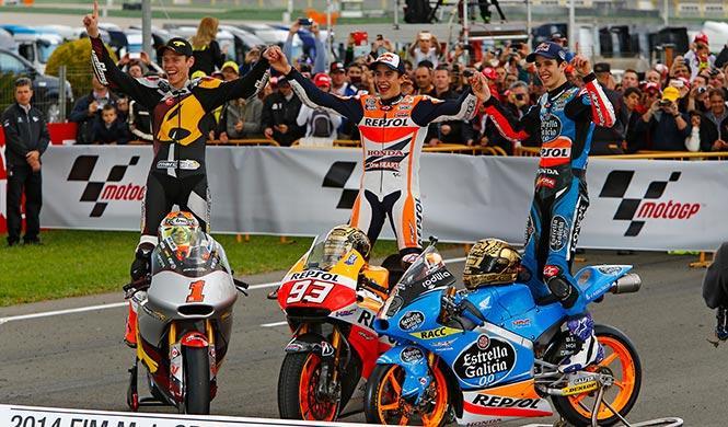 Triplete español en el Mundial de Motociclismo 2014