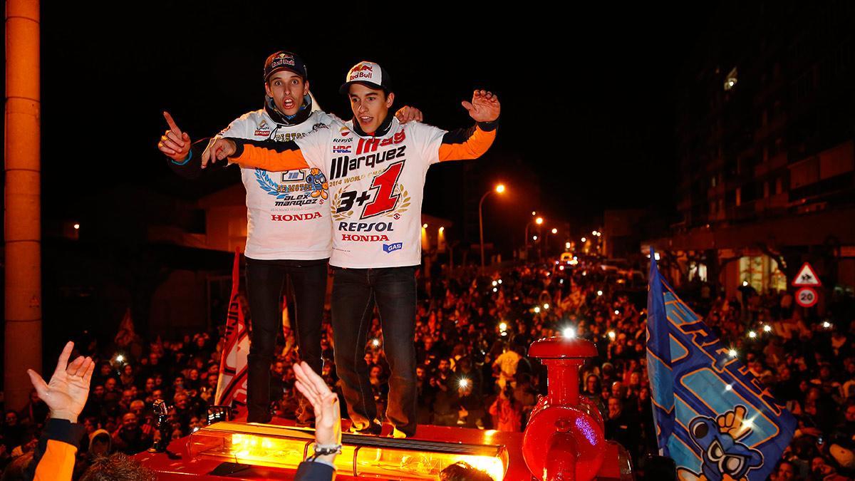 celebración Marc y Alex Márquez 1