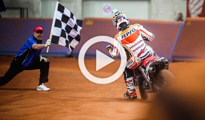 Marc Márquez gana el II Superprestigio Dirt Track Barcelona
