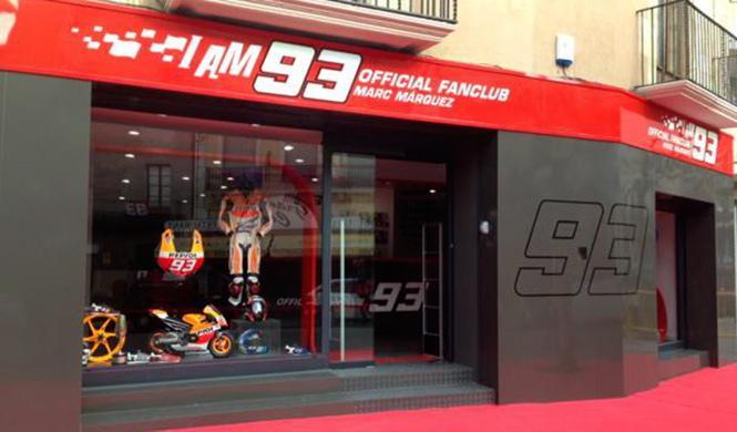Marc Márquez presenta la sede oficial de su club de fans