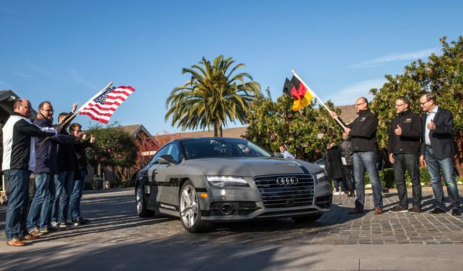 El Audi A7 Sportback Piloted recorre 885 kilómetros
