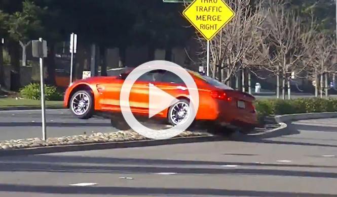 Vídeo: capta en directo el accidente de un BMW M4 Coupé