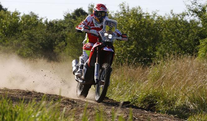 Rally Dakar 2015, Etapa 2 motos: Barreda, victoria y líder