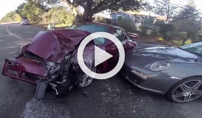 Vídeo: un pick-up destroza un espectacular RUF Turbo R
