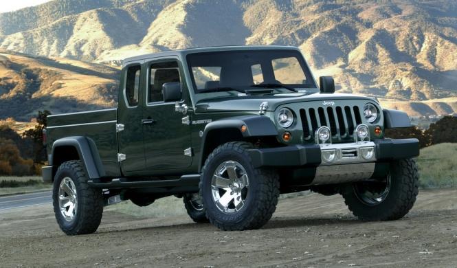 El Jeep Gladiator Concept (pick-up) podría producirse
