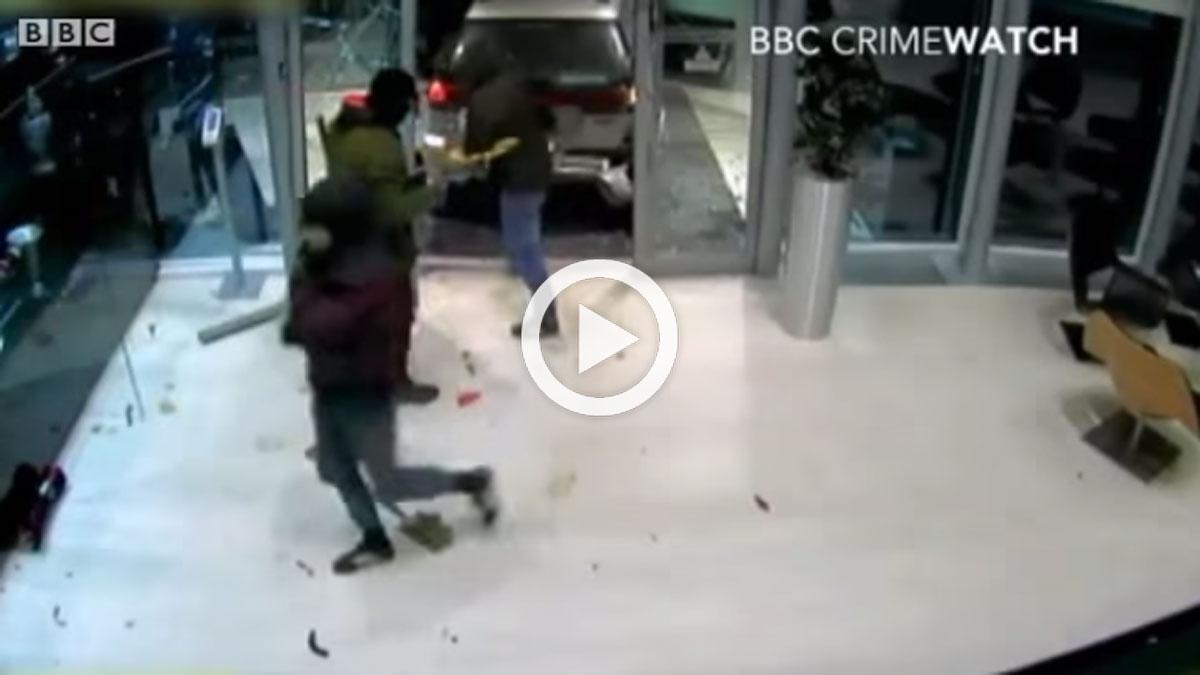 Vídeo: la grabación del robo de los trofeos de Red Bull