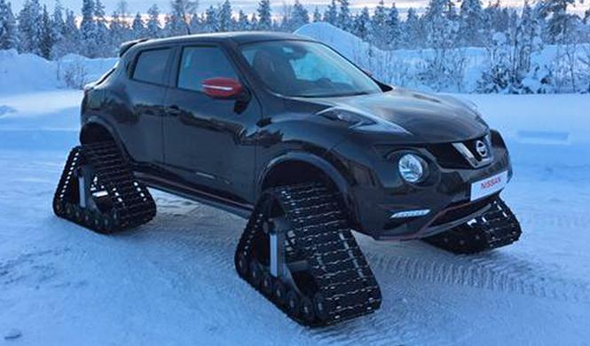 Nissan Juke Nismo RS con orugas, el mejor SUV para la nieve