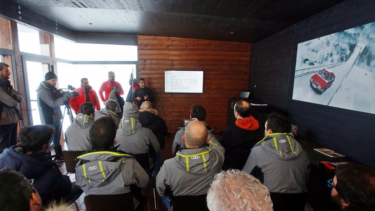 Vivimos la Audi Driving Experience Baqueira 2015 briefing inicial