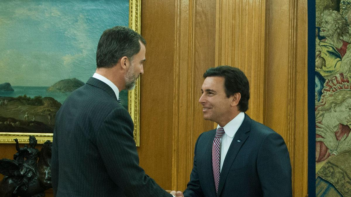 Rey Felipe VI recibió en visita oficial a Mark Fields