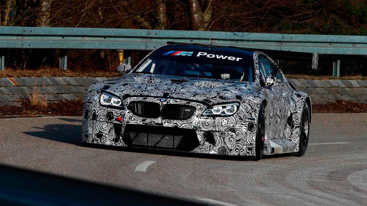 BMW M6 GT3 primeros tests