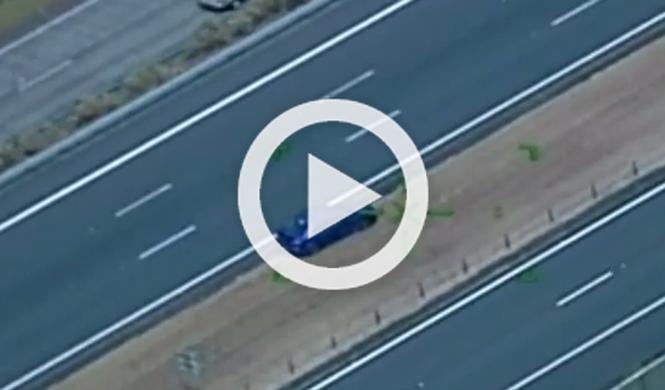 Espectacular persecución en una carretera de Australia