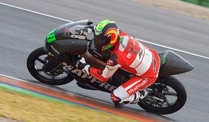 Finalizan los test Valencia Moto2 y Moto3 bajo la lluvia