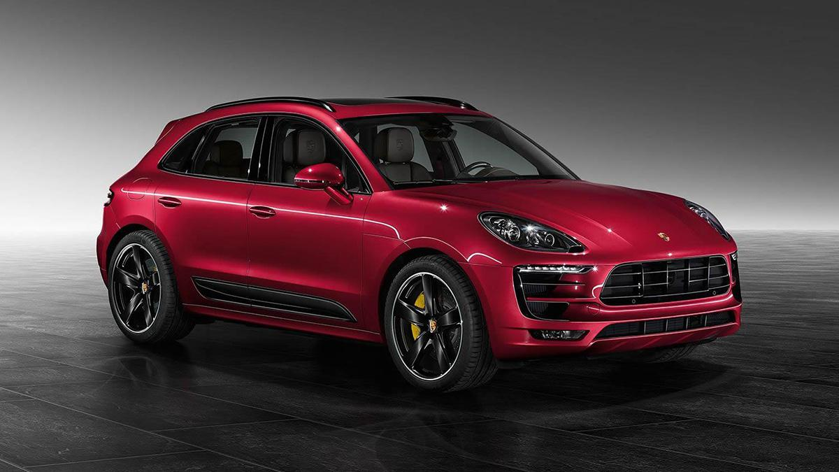 Porsche Macan turbo Red Metallic