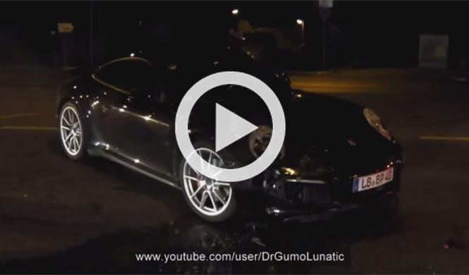 Vídeo: accidente de un prototipo del futuro Porsche 911
