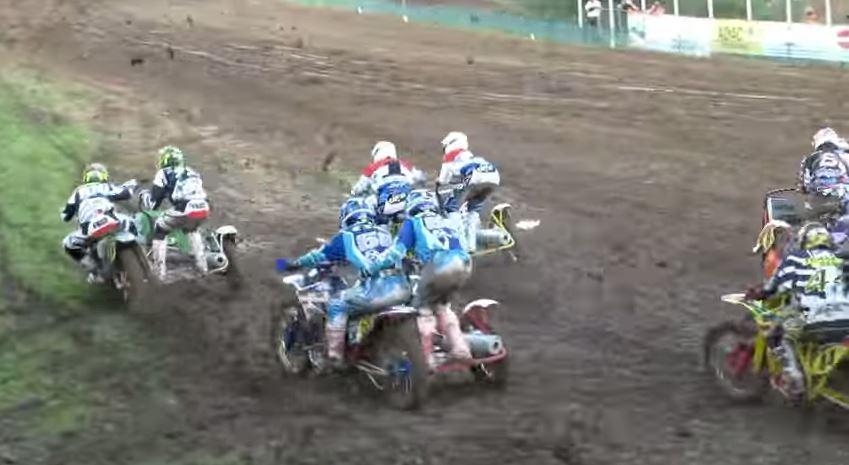 Motocross con sidecar, adrenalina máxima